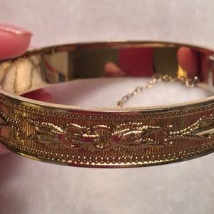 Whiting&Davis Rare GoldTone Latch Bracelet
